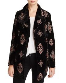 Embroidered Velvet Jacket bu Karen Kane at Bloomingdales