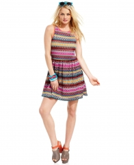 Embroidered aline dress by Teen Vogue Juniors at Macys