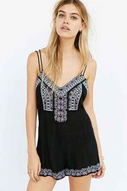 Embroidered romper by Staring at Stars at Urban Outfitters