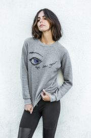 Embroidery Eye Sweatshirt by Rag Doll Los Angeles at Rag Doll Los Angeles