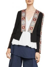 Embroidery Trimmed Jacket at Saks Off 5th