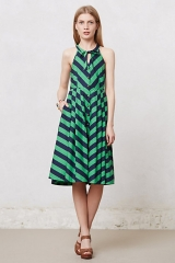 Emerald Ripple Dress at Anthropologie