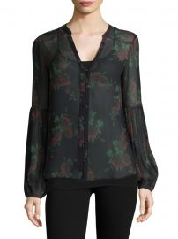 Emilia Floral-Print Silk Blouse at Saks Off Fifth
