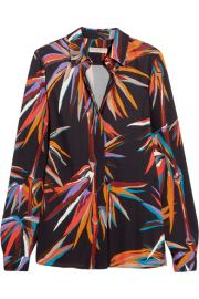 Emilio Pucci   Printed stretch-jersey shirt at Net A Porter