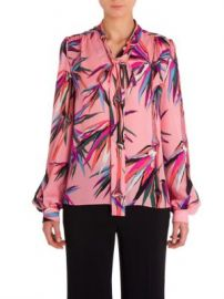 Emilio Pucci - Silk Tie Neck Blouse at Saks Fifth Avenue