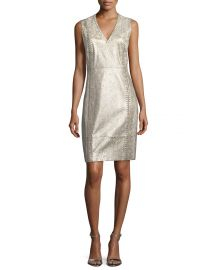 Emily Metallic Lace-Up Dress at Bergdorf Goodman