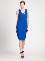 Emilys blue dress at Saks Fifth Avenue
