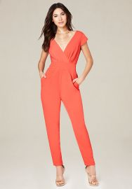 Emma Bow Crepe Jumpsuit at Bebe