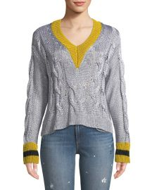 Emma Cropped V-Neck Sweater at Bergdorf Goodman