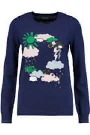 Emma embellished intarsia merino wool sweater at The Outnet