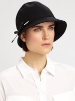 Emmas black hat by Burberry at Saks Fifth Avenue