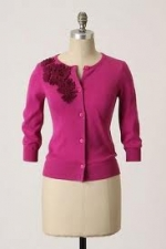Emma's pink Anthropologie cardigan on Glee at Anthropologie
