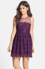 En Crand232me Eyelash Lace Skater Dress at Nordstrom