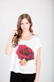 Enchanted Rose Perfect Modal Tee at Royal Rabbit