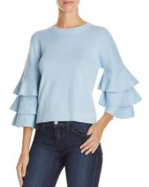 Endless Rose Tiered Sleeve Sweater Blue at Bloomingdales