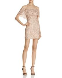 Endless Rose Lace Off-the-Shoulder Flounce Dress at Bloomingdales