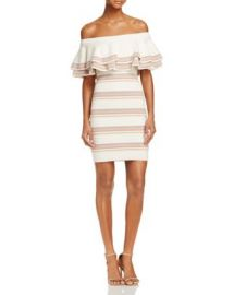 Endless Rose Off-The-Shoulder Fitted Knit Dress - 100  Exclusive at Bloomingdales
