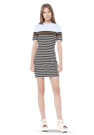 Engineered Stripe Dress at Alexander Wang