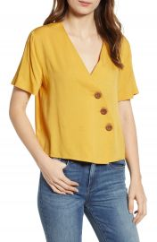 English Factory Asymmetrical Cotton Blouse at Nordstrom