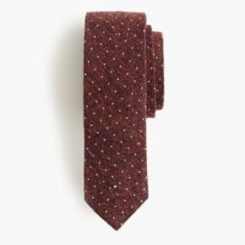 English silk tie in microdot at J. Crew