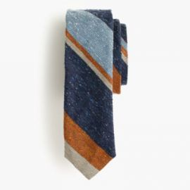 English silk tie in mixed stripe at J. Crew