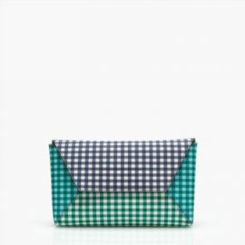 Envelope clutch in gingham patchwork at J. Crew