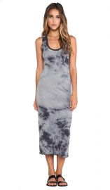 Enza Costa Ionic Wash Bold Doubled Tank Dress in Steel Grey and Phantom  REVOLVE at Revolve