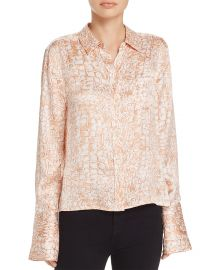 Equipment Huntley Croco Print Silk Shirt at Bloomingdales
