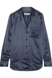 Equipment Keira striped silk-satin shirt at Net A Porter