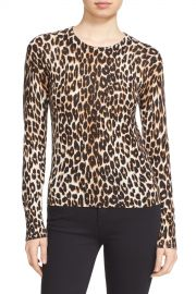 Equipment     x27 Shirley  x27  Leopard Print Silk  amp  Cashmere Sweater   Nordstrom Rack at Nordstrom Rack