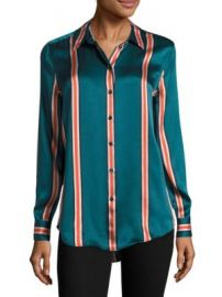 Equipment - Essential Striped Silk Blouse at Saks Fifth Avenue