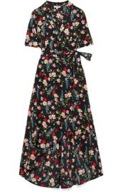 Equipment   Imogene floral-print washed-silk wrap dress at Net A Porter