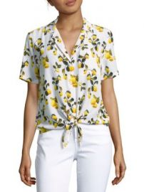 Equipment - Keira Tie-Front Shirt at Saks Off 5th