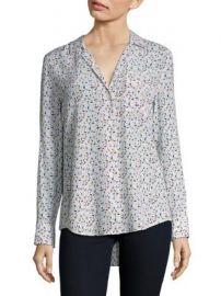 Equipment - Kiera Floral-Print Silk Shirt at Saks Fifth Avenue