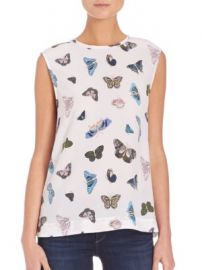 Equipment - Kyle Butterfly Blouse at Saks Fifth Avenue