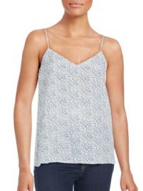 Equipment - Layla Floral-Print Silk Camisole at Saks Off 5th