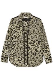 Equipment   Leema floral-print silk-georgette shirt at Net A Porter