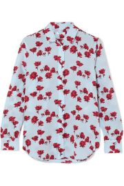 Equipment   Leema floral-print washed-silk shirt at Net A Porter
