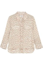 Equipment   Leopard-print  washed-silk shirt at Net A Porter