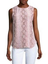 Equipment - Lyle Printed Silk Top at Saks Off 5th