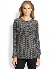 Equipment - Lynn Silk Blouse at Saks Fifth Avenue