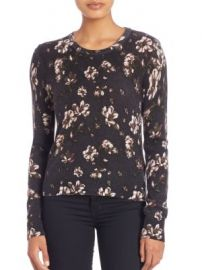 Equipment - Shirley Cashmere Floral-Print Sweater at Saks Off 5th
