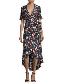 Equipment - Silk Imogene Floral Wrap Dress at Saks Fifth Avenue