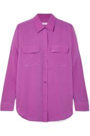 Equipment - Slim Signature washed-silk shirt at Net A Porter