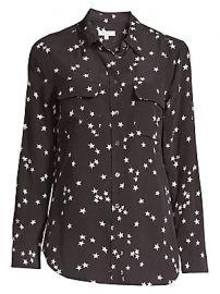 3451b566dbda7 Equipment - Starry Night Slim Signature Silk Shirt at Saks Fifth Avenue