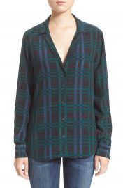 Equipment   x27 Adalyn  x27  Plaid Silk Blouse at Nordstrom