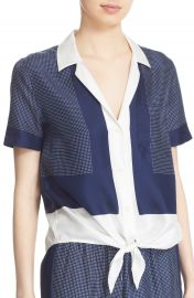 Equipment  Keira  Short Sleeve Tie Front Top at Nordstrom
