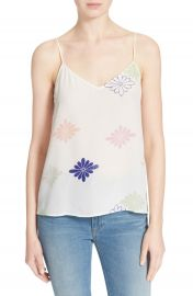 Equipment  Layla  Floral Print Silk Tank at Nordstrom