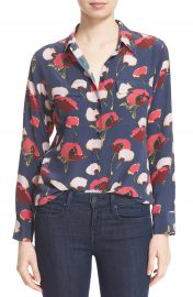 Equipment  Slim Signature  Floral Print Silk Shirt at Nordstrom