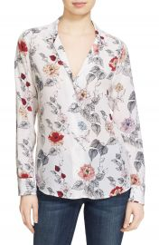 Equipment Adalyn Floral Print Silk Shirt at Nordstrom